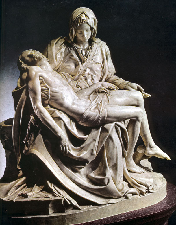 the work of michelangelo bounarroti The pietà (italian: [pjeˈta], english: the pity 1498–1499) is a work of renaissance sculpture by michelangelo buonarroti, housed in st peter's basilica, vatican.